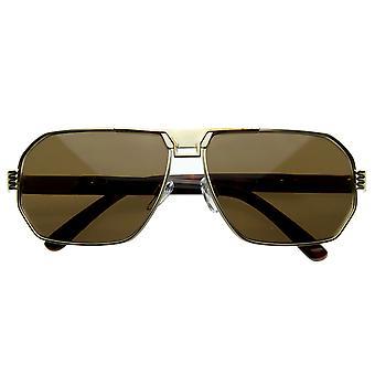 Optische Qualität Brillen Retro-Design Metall Flat Top Sonnenbrillen