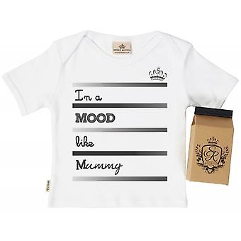 Spoilt Rotten Mood Like Mummy Babys T-Shirt 100% Organic In Milk Carton