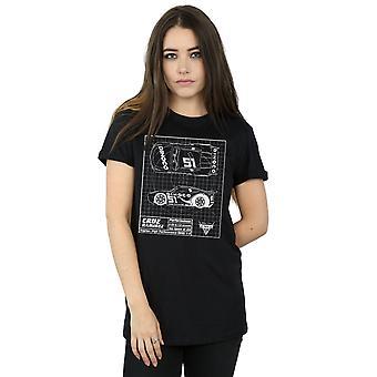 Disney Women's Cars Cruz Ramirez Blueprint Boyfriend Fit T-Shirt