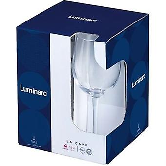La Cave Wine Glass 36cl Stylish Design A Favoured Choice For Wine Lovers Pack Of Four
