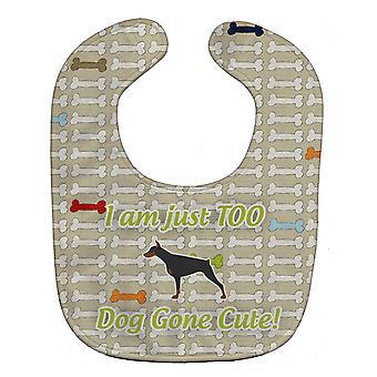 Carolines Treasures  BB6565BIB Doberman Pinscher Dog Gone Cute Baby Bib