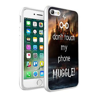 i-Tronixs Apple iPhone 8 Plus Dont touch My Phone Babbano Design stampato Custodia Cover - 043