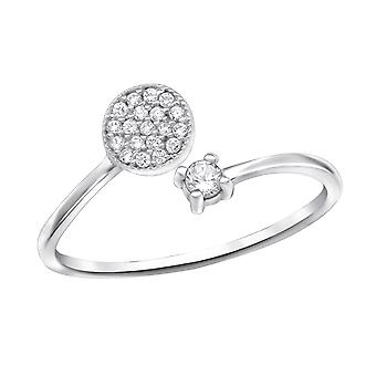 Open Micro Pave - 925 Sterling Silver Jewelled Rings - W30523x
