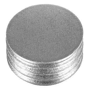 Tablero de la torta de helecho Culpitt cuadrado/redondo plata (paquete de 5)