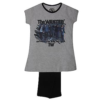 Dívky hledaný krátký rukáv Top & dno pyžama/nočního nošení