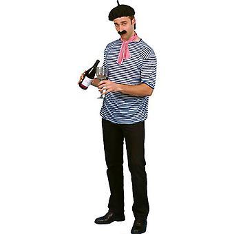 Französischer Mann gesetzt - T-Shirt - Mütze - Schal & Tash wie In Frankreich gesehen