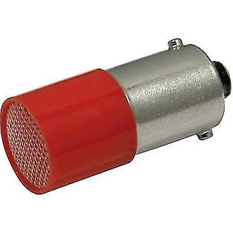 Luz indicadora LED CML BA9S Rojo 110 V CC, 110 V AC 0.4 lm 1882 4120