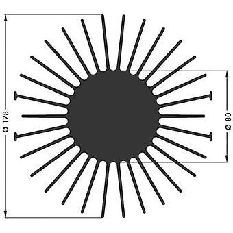 """פישר אלקטרונית SK 590 20 SA כיור חום LED 1.4 K/W (Ø x H) 178 mm x 20 מ""""מ"""