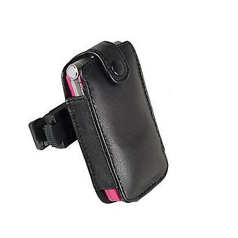 Technocel Fitted Leather Case for Motorola V3 (Black)