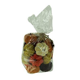 Bag of Natural Assorted Color Dried Angel Vine Decorative Pumpkins