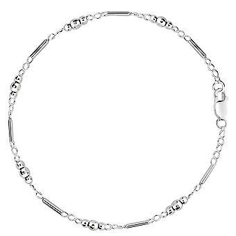 Fantasia Link con Perline sfaccettate catena cavigliera In argento