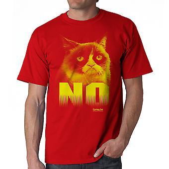 Grumpy Cat No Men's Red Funny T-shirt