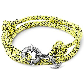 Anker og besætningen Clyde sølv og reb armbånd - gul Noir
