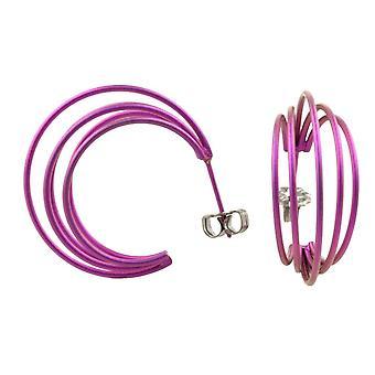 TI2 Titanium große Draht Creolen - Candy Pink