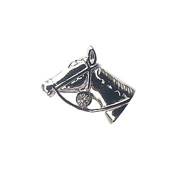 Głowa konia angielski cyny Lapel Pin odznaka