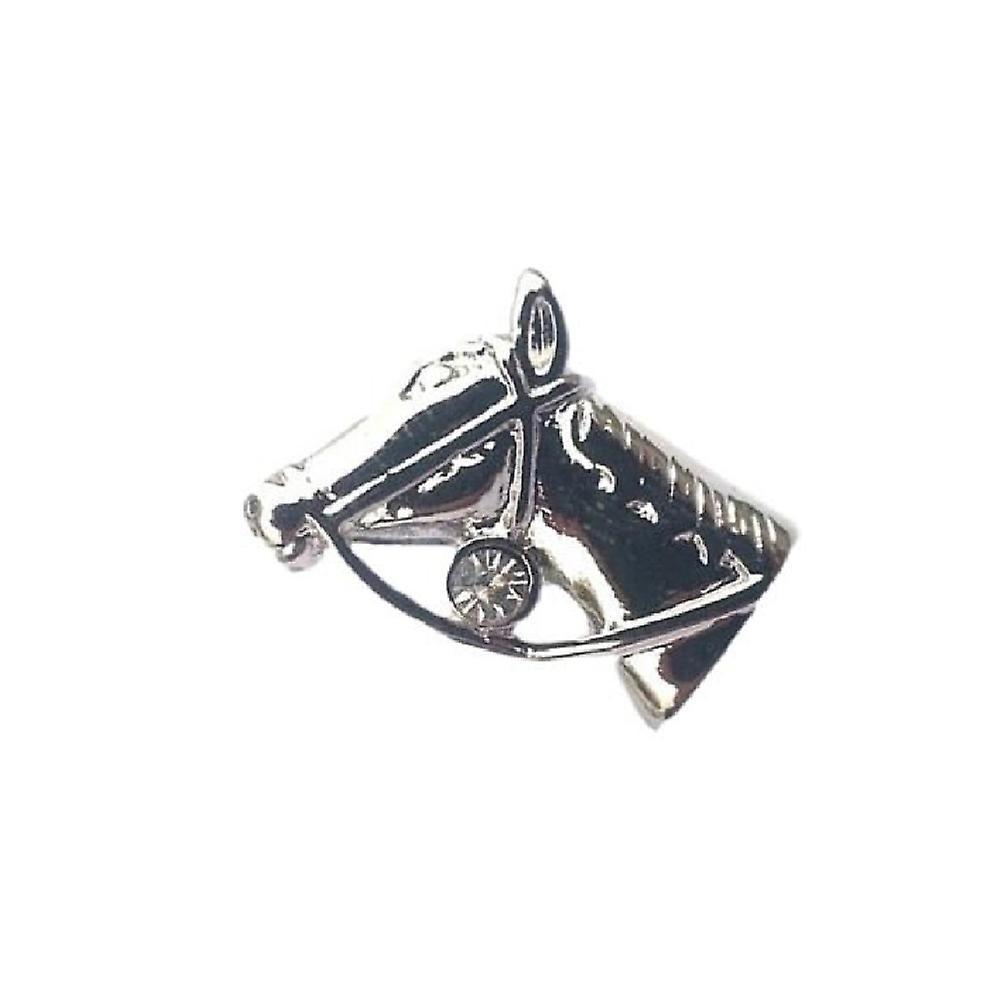 Horse Head English Pewter Lapel Pin Badge