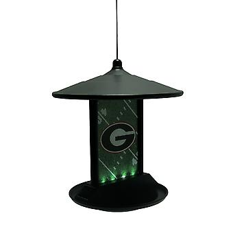 University of Georgia Bulldogs Logo Solar Powered Hanging Birdfeeder