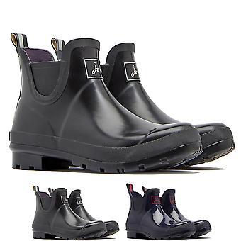 Womens joule Wellibobs Glossy vattentät regn snö Wellington Ankle Boot