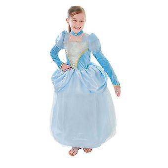 Bnov blå prinsessa klä + Choker
