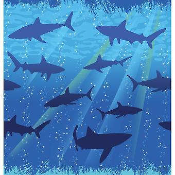Shark shark party tablecloth 137 x 274 cm shark shark party birthday decoration