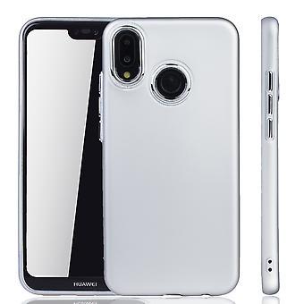 Huawei P20 Lite fall - Mobile Shell för Huawei P20 Lite - mobila case silver