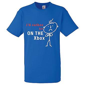 Mens אני ' די להיות על חולצת ה-Xbox המלכותית הכחולה