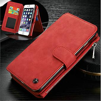 CASEME iPhone 6/6s Retro leather wallet case-red