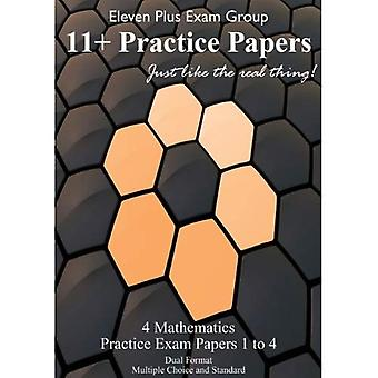 Mathematics Eleven Plus Practice Papers: (MAT1 - MAT4): 50 Questions / 50 Minutes (9-10 Years)