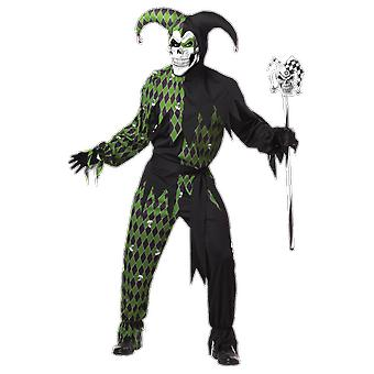 Mens Jokes on You Jester Halloween Clowns & Circus Film Fancy Dress Costume