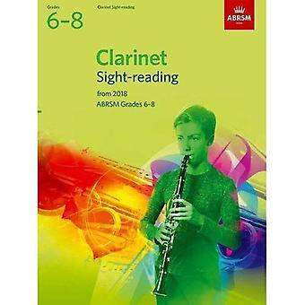Prove di lettura a prima vista di clarinetto, ABRSM gradi 6-8: dal 2018 (ABRSM lettura a prima vista)
