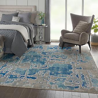 Radiante Nourison RAD06 rectángulo azul gris alfombras alfombras Funky