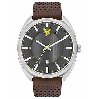 Lyle & Scott Mens Tevio brun läderrem grå urtavla LS-6015-01 Watch