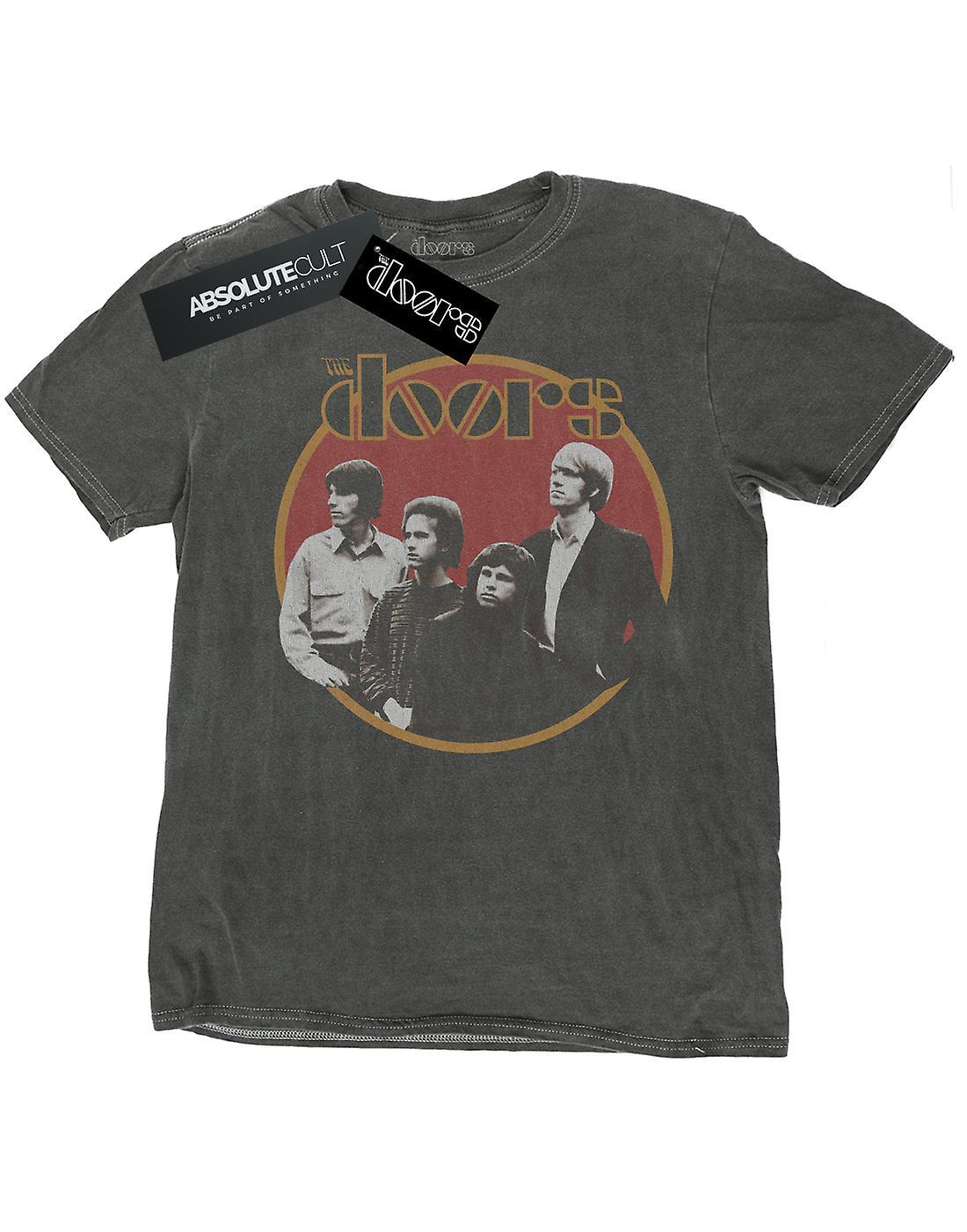 The Doors Men's Retro Band Circle Washed T-Shirt