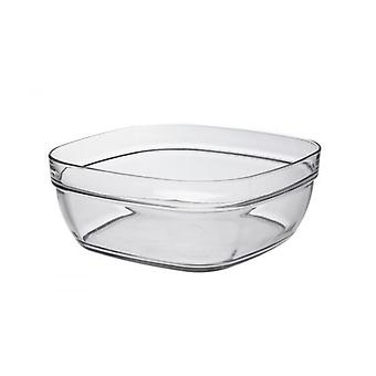Duralex Lys Square Stacking Bowl 23cm Glassware Single Clear Bowl Saladier