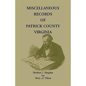 Varie registrazioni di Patrick County Virginia da Baughan & Barbara C.