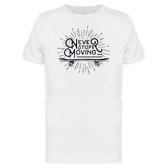 Nie aufhören zu bewegenden Text T-Shirt Herren-Bild von Shutterstock