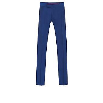 Dobell Mens Royal Blue Trousers Regular Fit