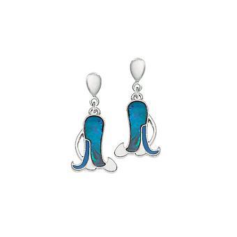 Éternelle Collection Bluebell coquillage Paua fermoir goutte Clip boucles d'oreilles