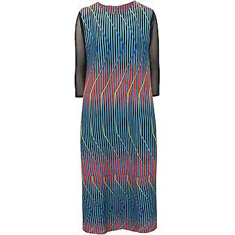Thanny Pleated Print Midi Dress