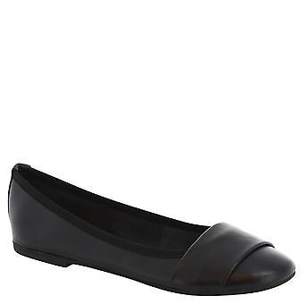 Leonardo Shoes Woman's handmade ballerinas in black leather
