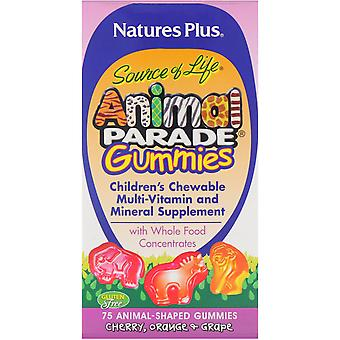Natures Plus Animal Parade Gummies Assorted Flavors 75's