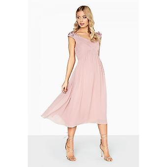 Little Mistress Womens/Ladies Empire Pleated Prom Dress