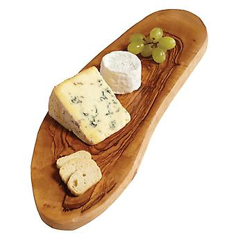 Woodware-rustikk Cheese Board (ca 30 cm) Olivewood