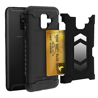 Shockproof Hybrid Protection Case, Samsung Galaxy A6 Forcell Black