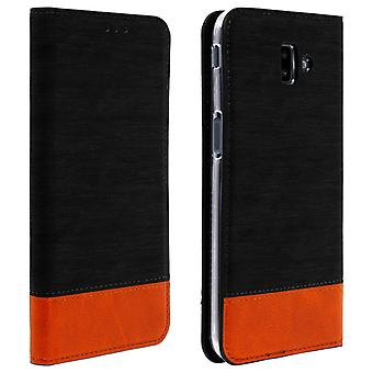 Futerał na Etui Samsung Galaxy J6 Plus Flip Wallet-czarny denim Case