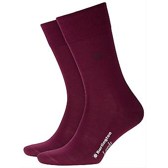 Burlington Leeds Socks - Merlot Red