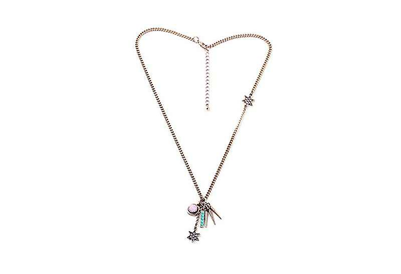 Fun Layering Starlight Starbright Pendant Necklace, Oxidized