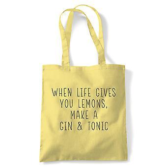 Quand la vie vous donne des citrons, fourre-tout - Cadeau réutilisable de sac de toile d'achat