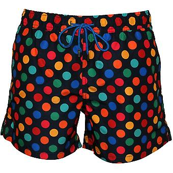 Happy Socks Big Dot Swim Shorts, Navy/multi