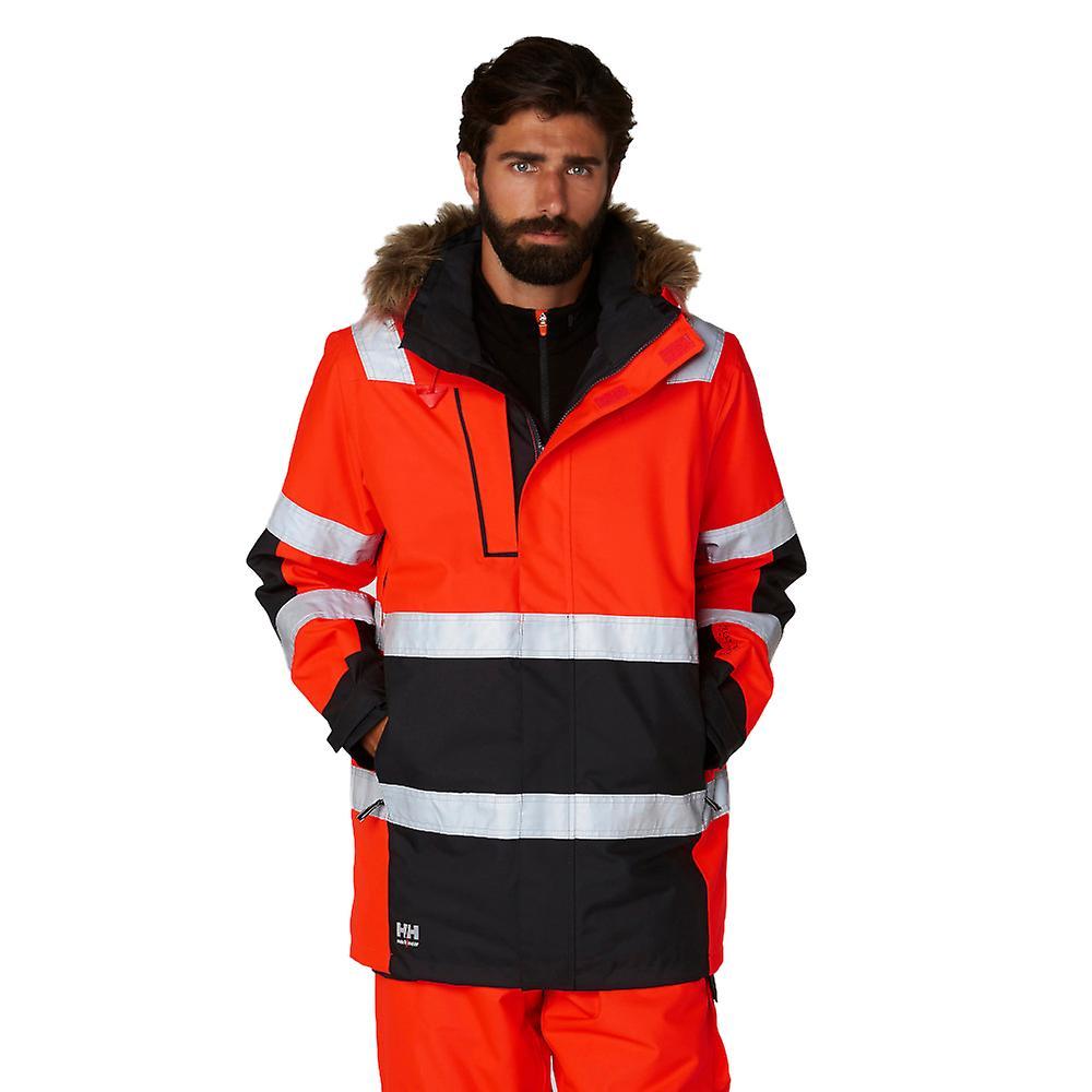 uusi kokoelma täysin tyylikäs halpa myytävänä Helly Hansen Mens Alna Winter Hi Vis parka työvaatteet takki